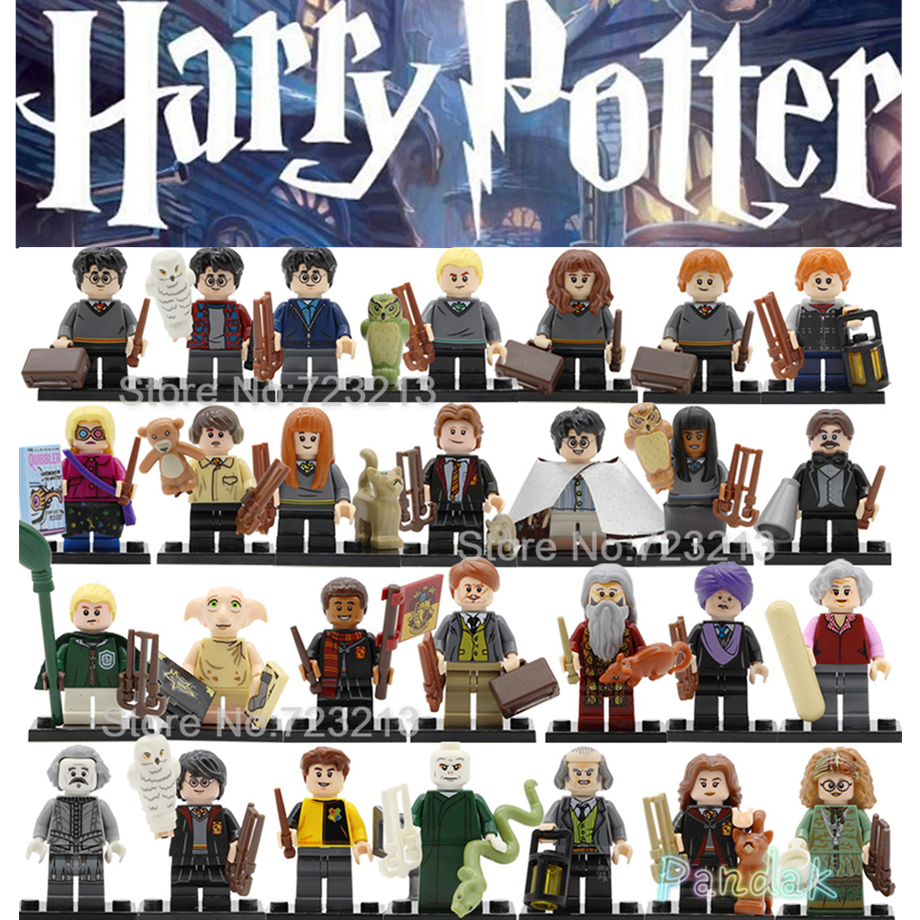 New Single Potteri Newt Figure Neville Ron Dobby Cedric Lupin Thestral Trelawney Argus Filch Building Blocks Brick Toys Legoing