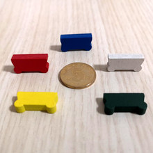 50 peças 20*10*5mm colorido carro carrinho de madeira forma peças de jogo diy marcas para jogos de tabuleiro acessórios