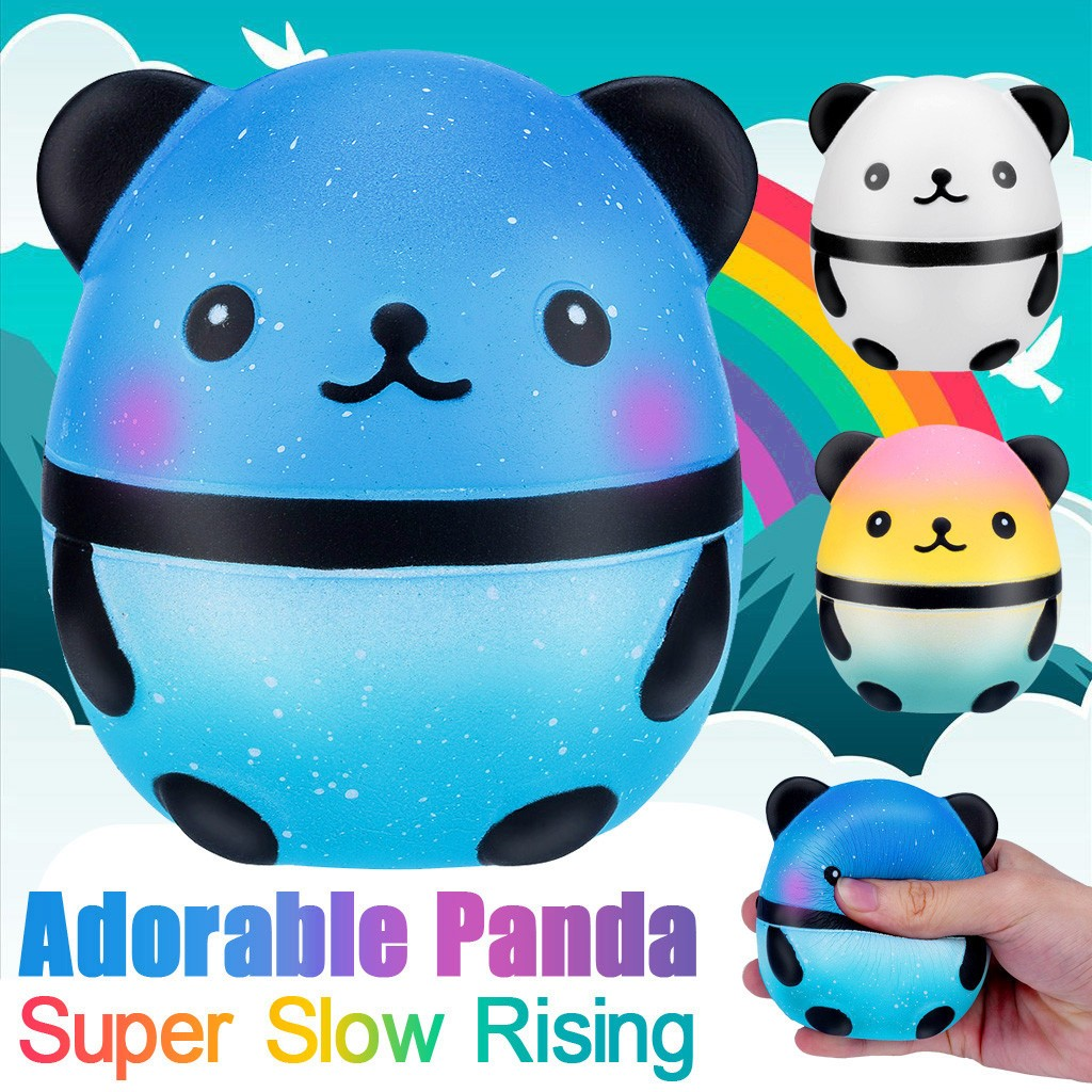 Simulation Squeeze Toys Mini Starry Sky Squishy Cute PANDA Animals Anti-stress Squeeze Soft Sticky Stress Funny Gift Toy L1218
