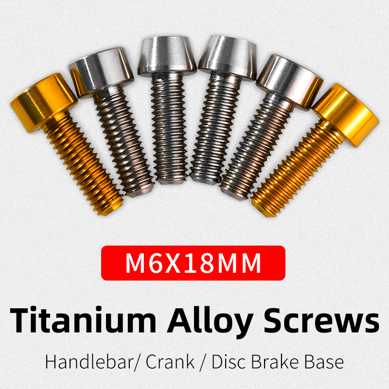 ROCKBROS Titanium Alloy Screws M6x18mm Fixed Gear Disc Brake Handlebar Screws MTB Road Screws Bicycle Accessories 2&10 Pcs/lot