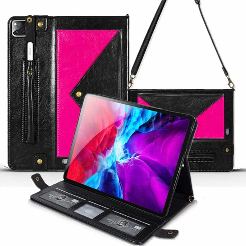 Schouderriem Case Voor Ipad Pro 12.9 2020 Pu Leather Flip Cover Voor Ipad Pro 12 9 Case 2020 Funda capa Coque Pro 12.9 4th Gen