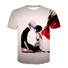New Tokyo Ghoul 3d Printing Male T-Shirt Cartoon Anime That Female Universal Creative Round Neck Short Sleeve Tops