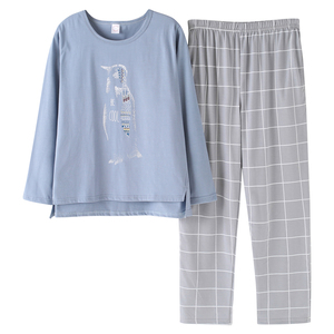 Image 5 - Pyjamas Women 2020 Autumn Long sleeve Cotton Home clothes Women night suit Two Piece plus size Sleepwear Ladies Pajamas Set 5XL