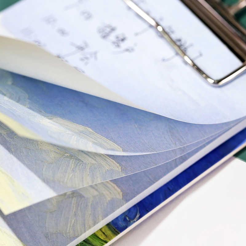 Créatif Mini paysage conseil Clip peut déchirer bloc-notes bloc-notes apprentissage papeterie Note papier Portable bureau étudiants fournitures