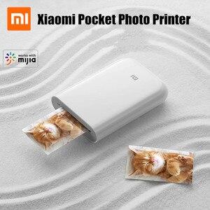 Image 1 - Xiaomi mijia AR yazıcı 300dpi taşınabilir fotoğraf Mini cep DIY payı 500mAh resim yazıcı cep yazıcı çalışması ile mijia