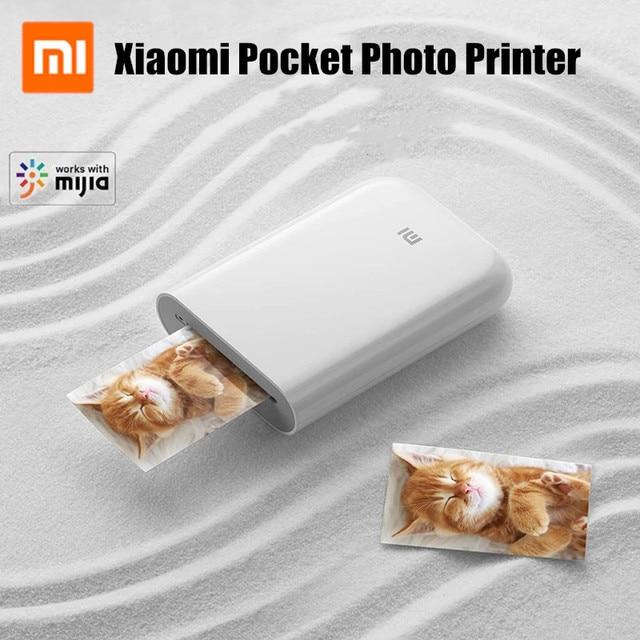 Xiaomi mijia AR yazıcı 300dpi taşınabilir fotoğraf Mini cep DIY payı 500mAh resim yazıcı cep yazıcı çalışması ile mijia