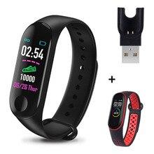 Fitness Tracker Blood-Pressure-Monitor Smart-Band Bluetooth M3-Watch Women Pedometer