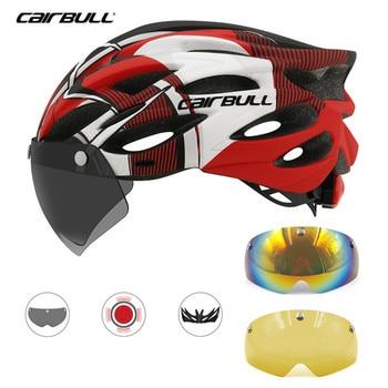 Cairbull 3 Lente Capacete de Ciclismo MTB Estrada Bicicleta In-mold capacete Da Bicicleta Com Luz Traseira de Segurança Ao Ar Livre Ricing Capacete Viseira Removível óculos de proteção 1