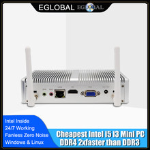 EGLOBAL NUC Intel Core i5 7200U i3 7167U DDR4 Max 16GB Mini PC Linux Windows 10 620/520 HD grafik 4K HTPC HDMI VGA bilgisayar