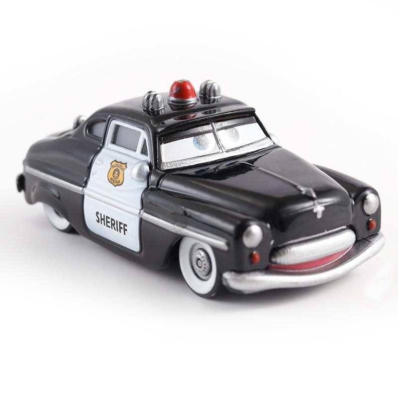 Disney Pixar Cars 2 3 Lightning McQueen Mater Jackson Storm Ramirez 1:55 Diecast Vehicle Metal Alloy Boy Toy Police Car Gift