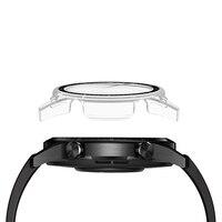 Pieno Caso Della Copertura di Vetro Temperato Protezione Dello Schermo Per Huawei Astuto Della Vigilanza GT 2 E 2E GT2 GT2E 46 millimetri 46 millimetri di Protezione Pellicola di Protezione
