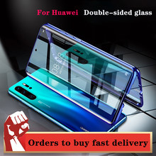 360 ° metal dupla side case for huawei honor mate 30 20 lite p30 p40 p20 pro 8x 9x y9 prime p smart z 201