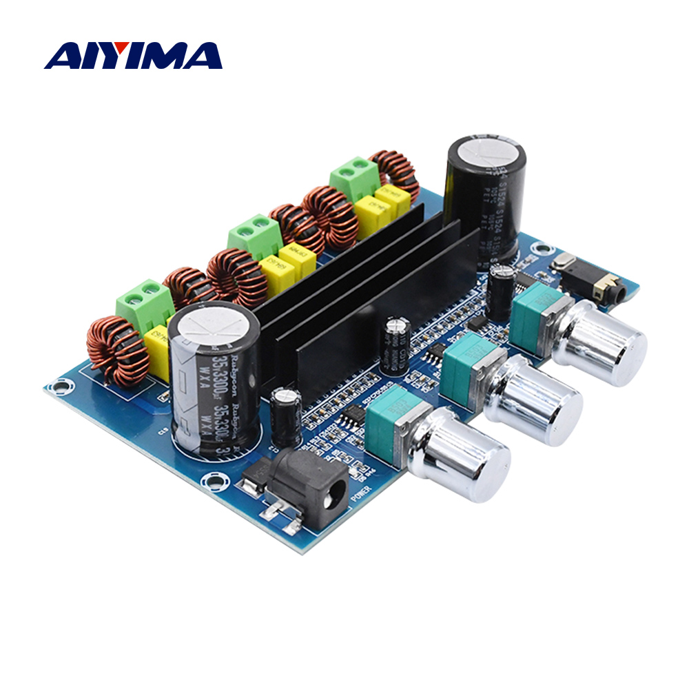 AIYIMA Bluetooth 5.0 Digital Power <font><b>Amplifier</b></font> <font><b>Board</b></font> <font><b>TPA3116D2</b></font> <font><b>50Wx2</b></font>+<font><b>100W</b></font> <font><b>2.1</b></font> Channel Sound <font><b>Amplifier</b></font> Audio Bass Subwoofer AUX AMP image