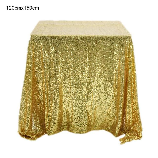 Square Gold Sequin Tablecloth Glitter Tablecloth Embroidered Sequin Table Cloth Christmas Wedding Festival Party Decoration
