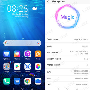 Image 4 - Global firmware Original HONOR 20 PRO SmartPhone 6.26 inch 8GB 128GB Kirin 980 Octa Core Android 9.0 Support Google play NFC