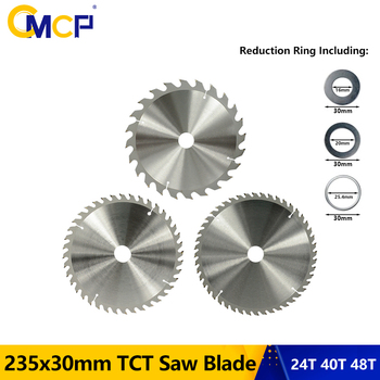 adapter washer circular saw blade reducing rings conversion ring cutting disc aperture change gasket inner hole adapter ring CMCP 235x30mm TCT Saw Blade 24T 40T 48T Circular Saw Blade Woodworking Cutting Disc Carbide Saw Blade For Wood