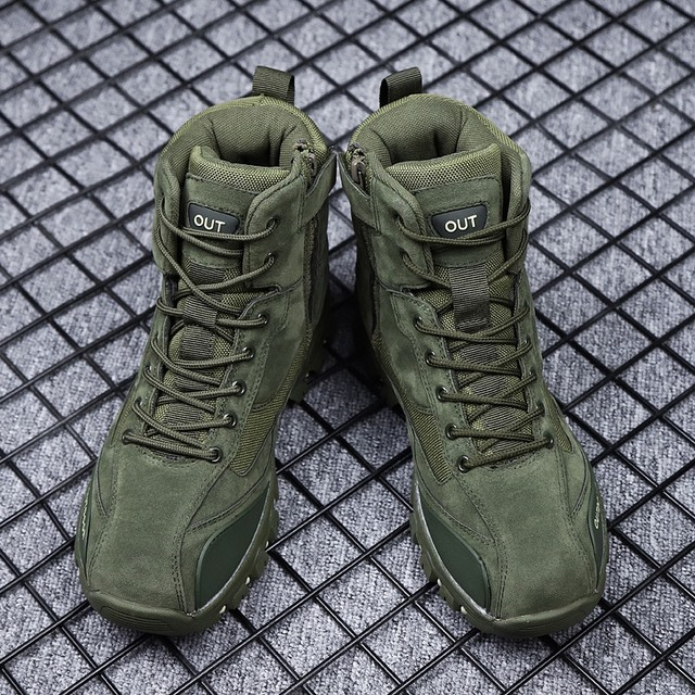 Tactical Military Combat Boots Men Genuine Leather US Army Hunting Trekking Camping Mountaineering Winter Work Shoes Bot JKPUDUN 4