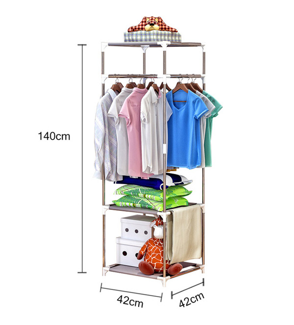 COSTWAY Clothes Hanger Coat Rack Floor Hanger Storage Wardrobe Clothing Drying Racks porte manteau kledingrek perchero de pie 5