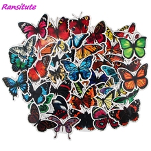 Refrigerator Sticker Waterproof Ransitute R1570 Suitcase Notebook Scooter Moth Beautiful