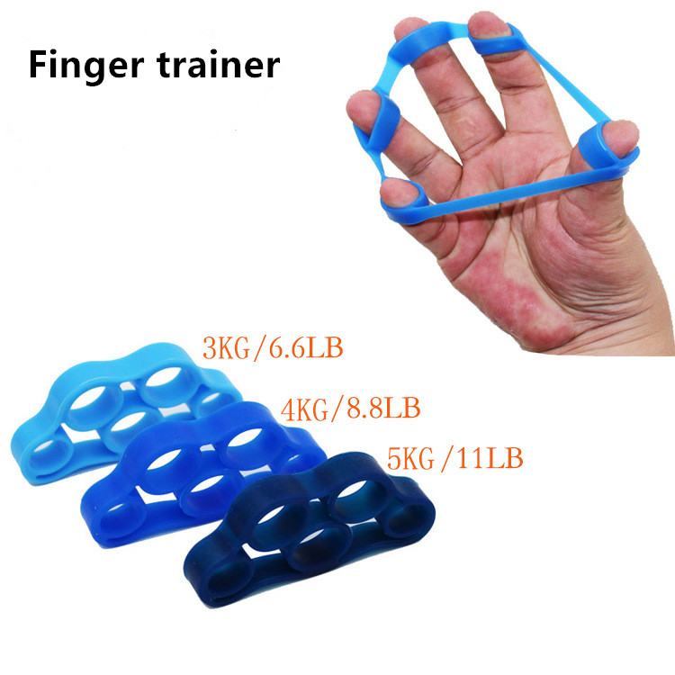 1PCS Finger Gripper Strength Trainer Outdoor Slim Fitness Tools Resistance Band Hand Grip Wrist Flexible Exercise Accessories