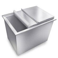 Única porta café especial armazenamento de gelo 304 aço inoxidável leite chá loja água barra ktv bar internet café tanque de armazenamento de gelo