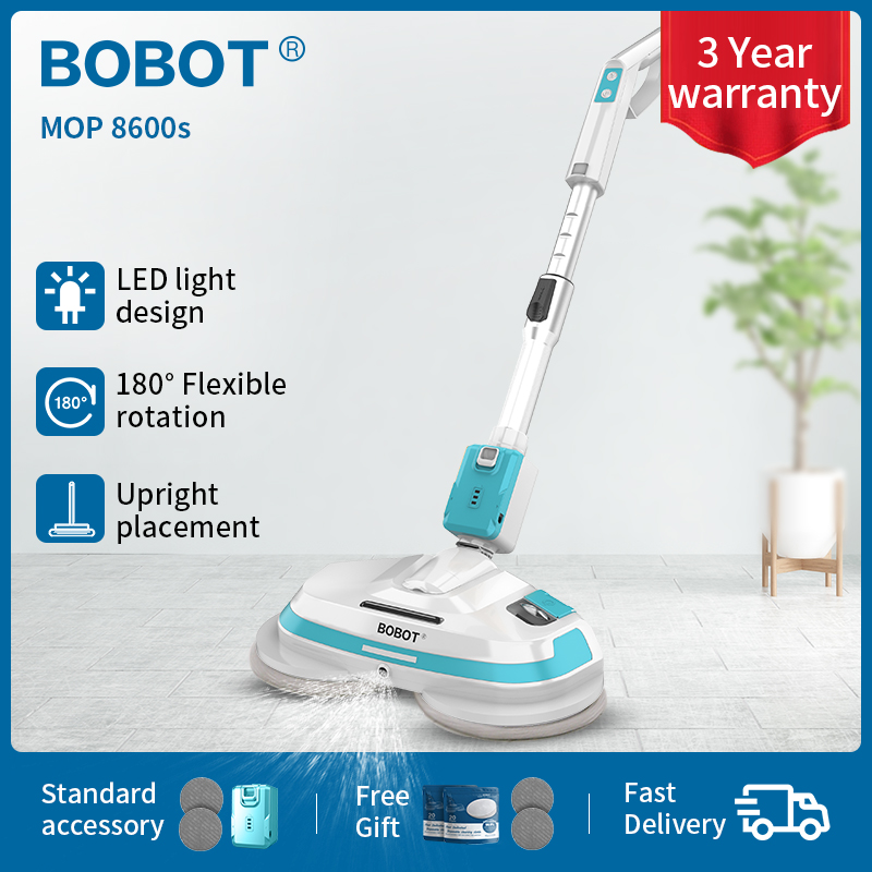 BOBOT Cordless Electric Mop 8600 S Handheld Electric Mop Saving Time And Effort One Key Spray Water