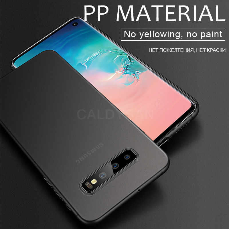 Funda de lujo Ultra delgada de 0,2mm mate PP para Samsung Galaxy S8 S9 S10 S10E Plus Note 8 9 10 Pro funda de teléfono a prueba de golpes