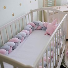 Baby Bed Bumper 2M Decorations Three-Strand Braid For Baby Crib Protector Cradle Playpen For Newborn Bedding
