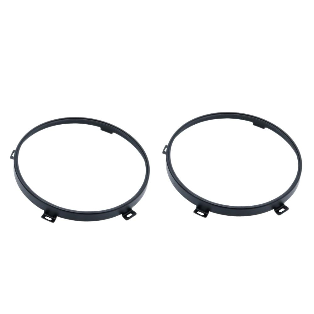2Pcs For Jeep Wrangler Jk Tj 07-17 7-Inch Led Headlight Round Ring Mounting Bracket For Headlight Mounting Lamp Holders Black