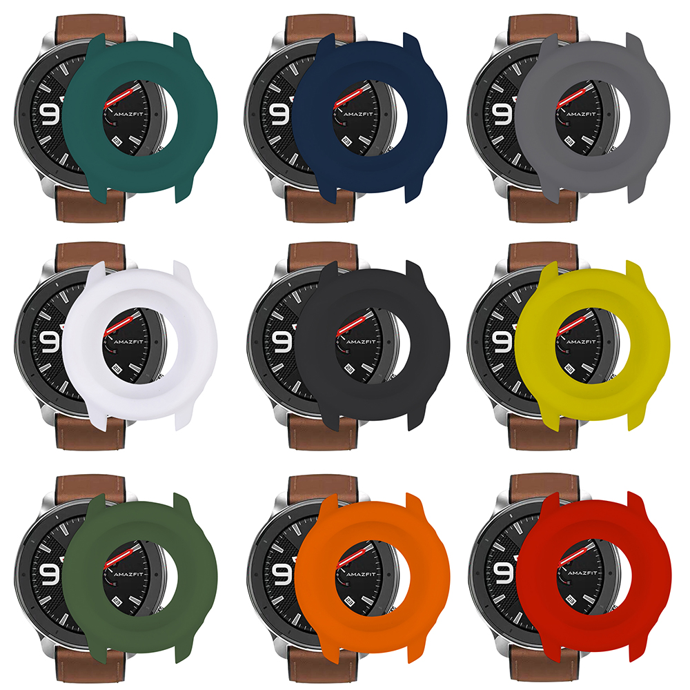 For Huami Watch AMAZFIT GTR 47mm Soft Explosion-proof And Break-proof Full-cover Silicone Cover Watch Screen Protective Cases