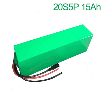 72V 15Ah 20S5P 18650 Li-ion Battery electric two Three wheeled motorcycle bicycle  ebike 380*100*70mm
