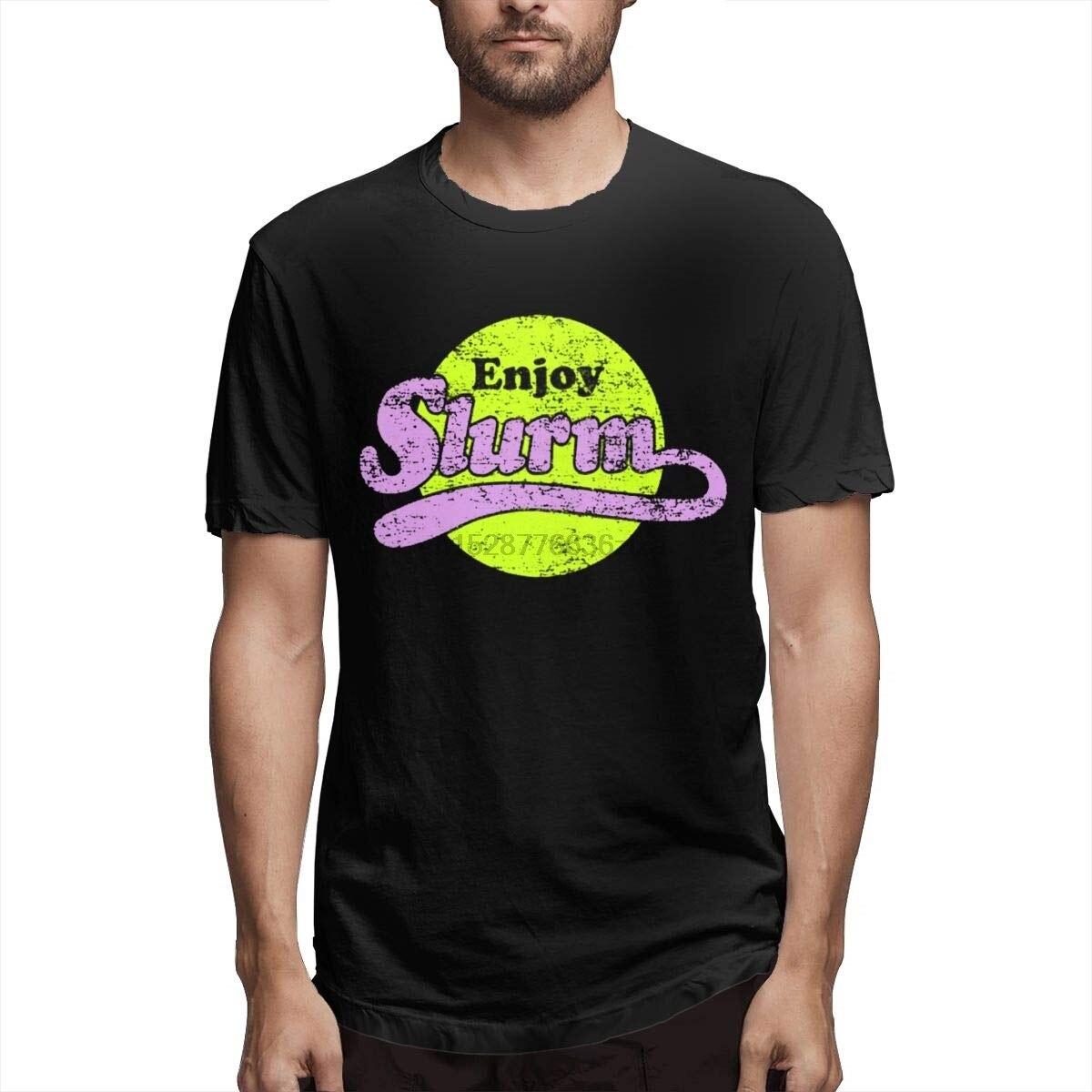 Enjoy Slurm Men/'s Black Futurama T-Shirt S-XXL