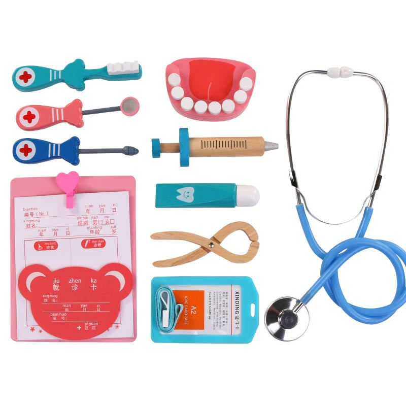 Kids Pretend Play Kit Doctor Dentist Toys Medical Role Play Games Educational Toy Doctor Playset Birthday Gift for Kids Ages 3-6