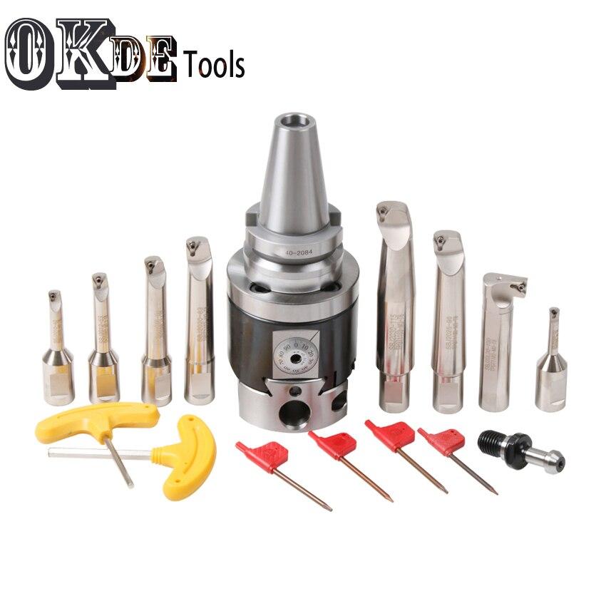 Hoge precisie SK40 NBH2084 CNC 0.01 run nout M16 micro tool met BT schacht NBH2084 systeem saai heads met 8 stuks boring bar - 6