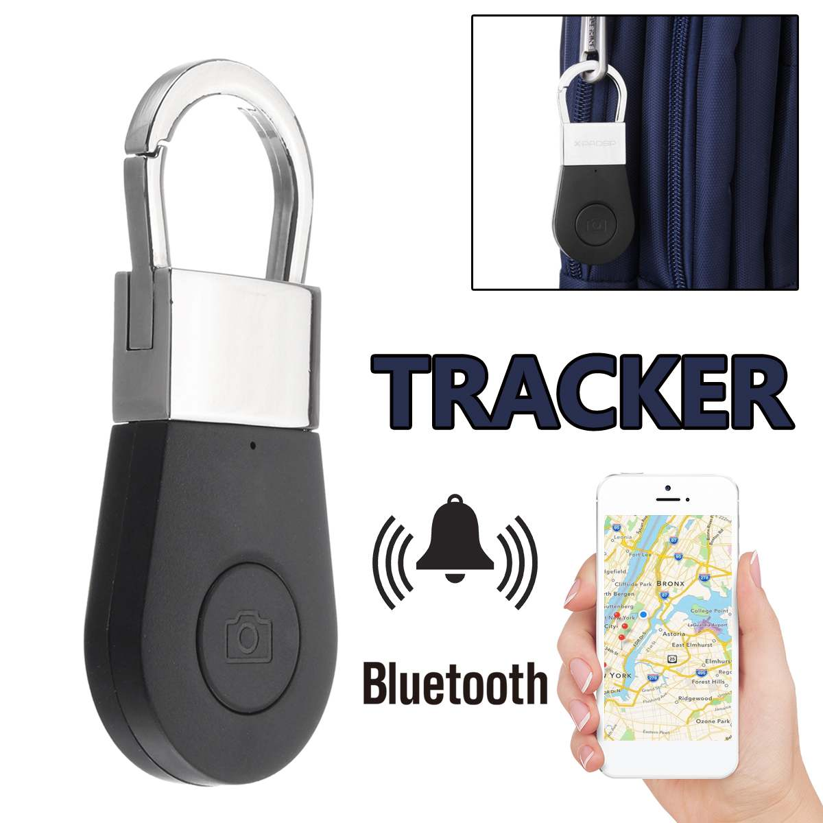 Bluetooth-Keychain Wallet Alarm Camera-Button Tracer GPS Anti-Lost Smart Wireless  title=