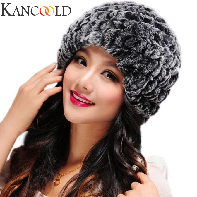 KANCOOLD 1 Pcs Hat New Fleece Lined Beanie Knit Wool Warm Winter Thick Soft Stretch Hat For Women Fashion Comfortable Beanie