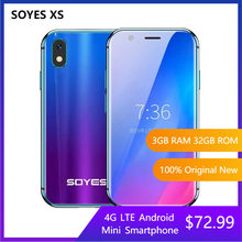 SOYES XS 3'' 4G LTE Android Smartphone 3GB 32GB Kleinste Quad Core Dual Sim Wifi GPS Entriegelte super Mini Handy PK S10