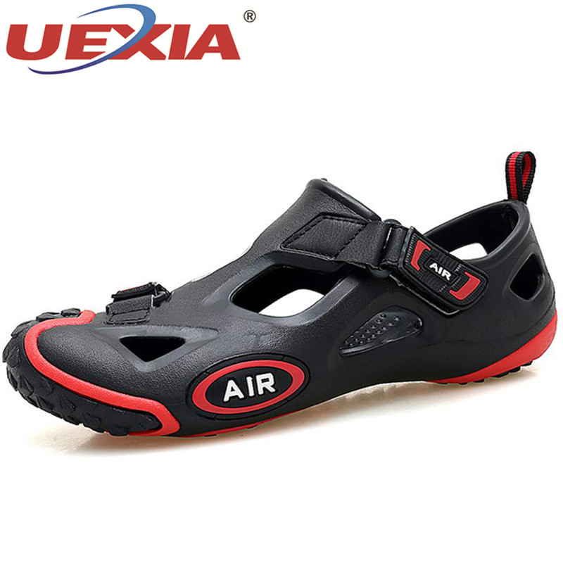 UEXIA Breathable Fashion Summer Shoes Men Sneakers Sandals Outdoor Water Unisex Couple Beach Sandals Mens Footwear Size 36-45