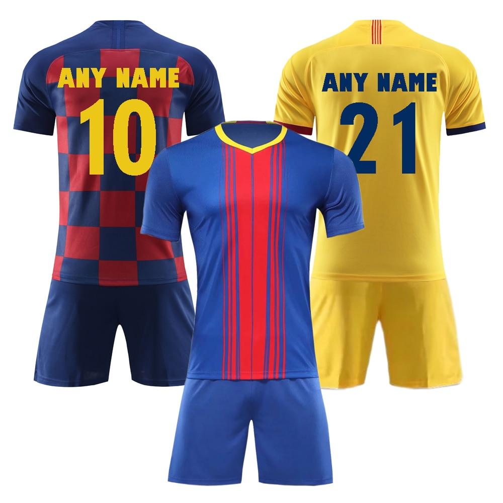 Tracksuit Soccer Jersey Sportswear Barcelona Customized Adults 19 Children 20 Men