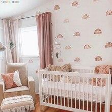 Arco-íris adesivos de parede para quartos dos miúdos estilo nórdico bohemia adesivo decorativo crianças adesivos de parede decoração do quarto dos miúdos meninas