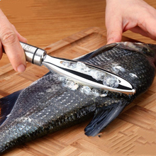 New Stainless Steel Fish Scales Hand-held Scraping Scales Fish Scale Planing Kitchen Brush Graters Scale Skin Fast Remove Tool