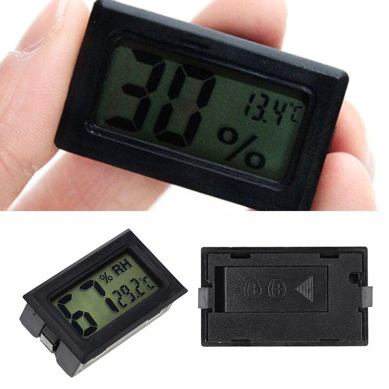 New Black Mini Digital LCD Indoor Outdoor Convenient Temperature Sensor Humidity Meter Thermometer Hygrometer LCD Display Meter