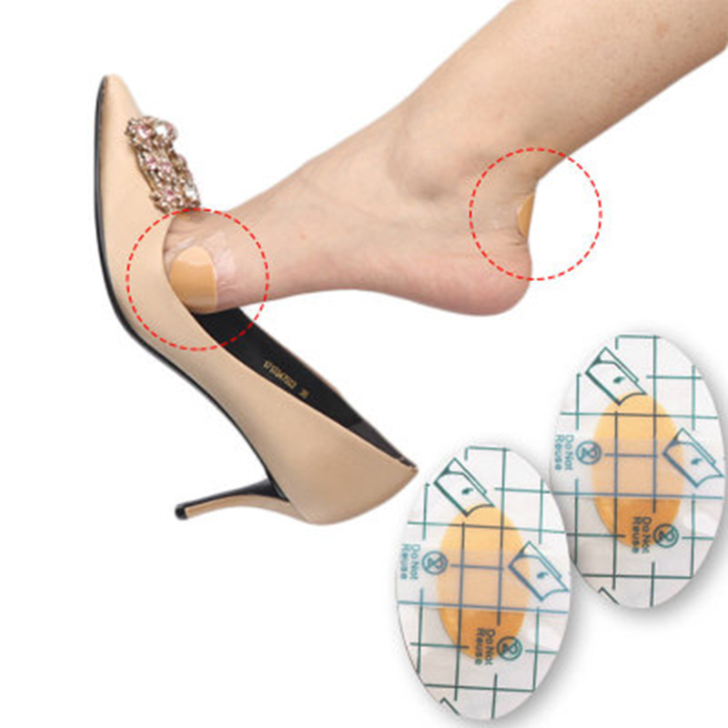 2pcs/10pcs Foot Care Socks Invisible Back Heel Pads For High Heel Shoes Grip Adhesive Liner Foot Care Cushion Protector Pads