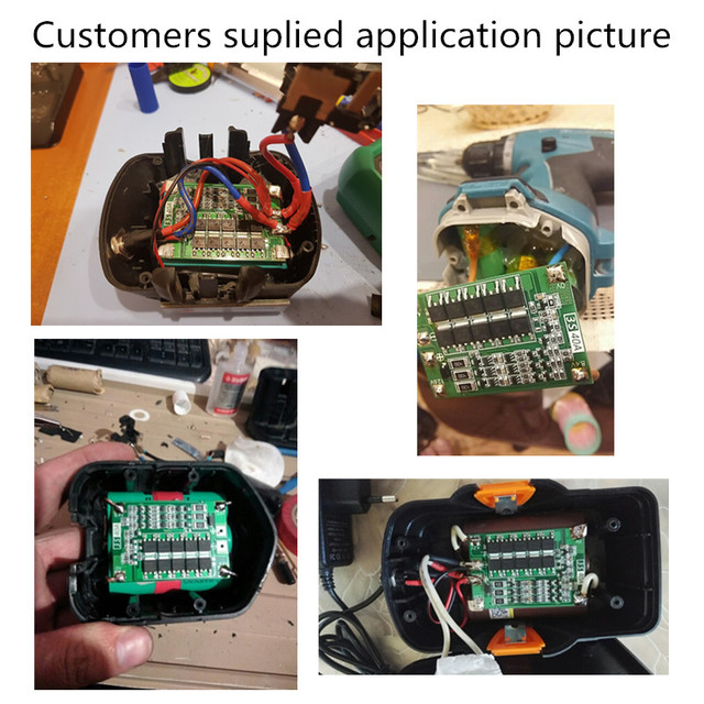 3S 40A BMS 11.1V 12.6V 18650 lithium battery protection Board with balanced Version for drill 40A current/ Motorcycle battery 2