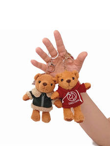Keychain Teddy Bear Doll Plush-Toy Bear-Pendant Christmas-Gift 13cm 12pcs/Lot Brand-New