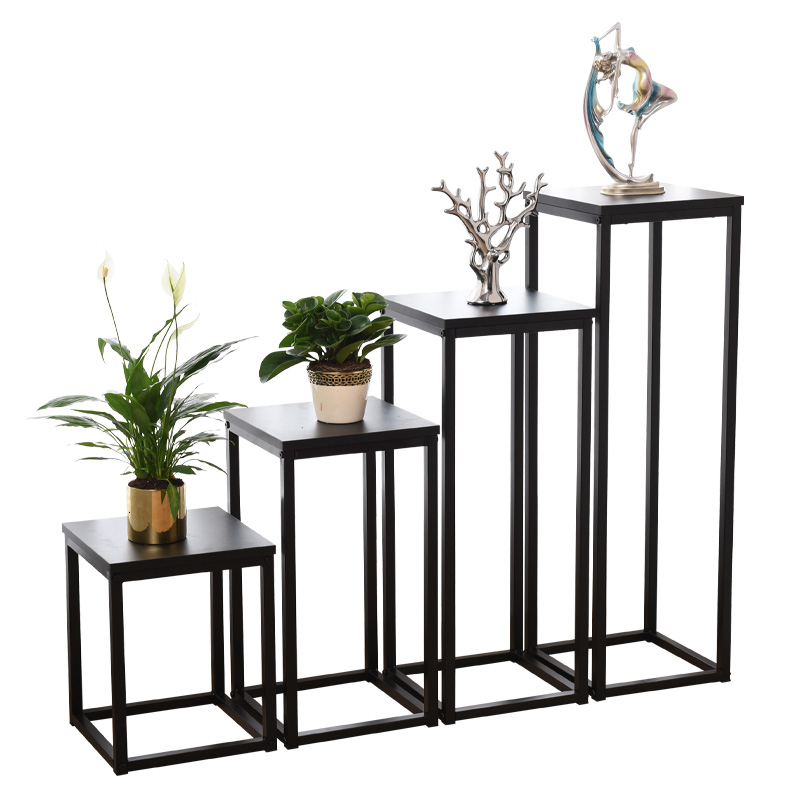 Rack Indoor Bedroom Simplicity Modern Green Luo Flower Airs Iron Art Single Short Monolayer Multi-storey  Rack