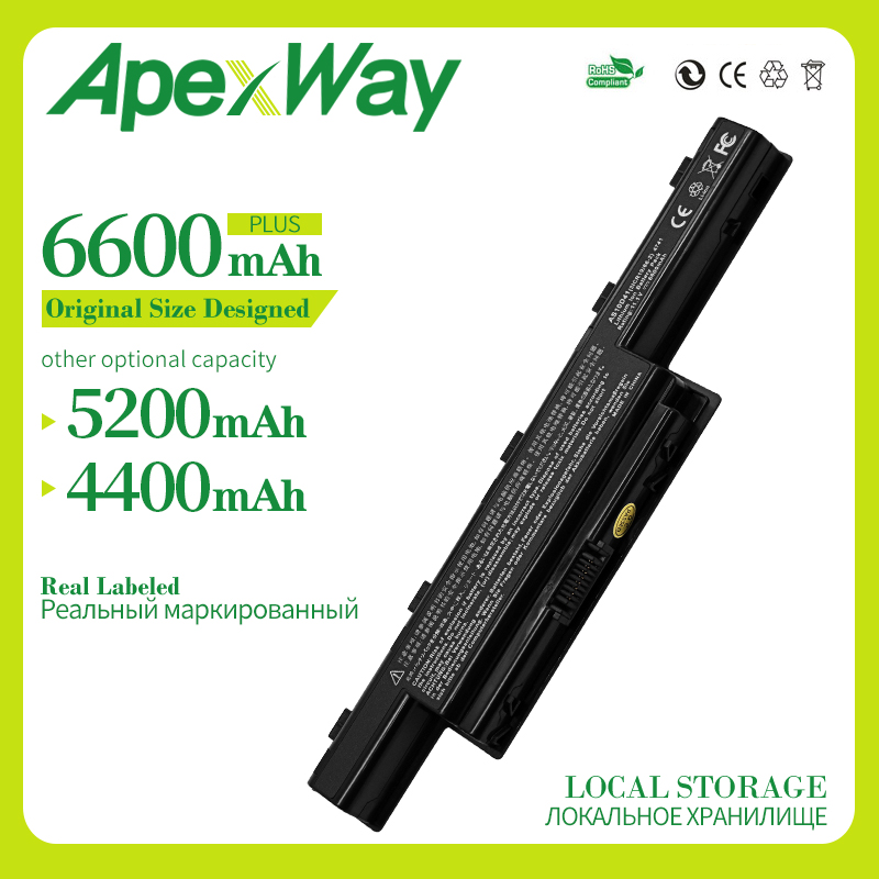 Apexway 6 Cell 11.1v  Laptop Battery For Packard Bell Easynote TK81 TK83 TK87 TK85 TK37 AS10G3E TS11HR TS11SB TS13HR AS10D61
