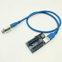 NEUE Hinzufügen Auf Karte PCI Express USB 3.0 Adapter Raiser PC Komponenten Extender PCIE Riser PCI-E Karte Riser PCI E Riser für Video Karte