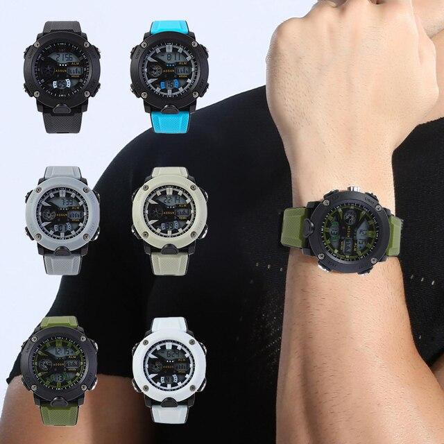 Reloj Digital LED para Hombre, cronógrafo de lujo, con fecha, electrónico, Shock 1