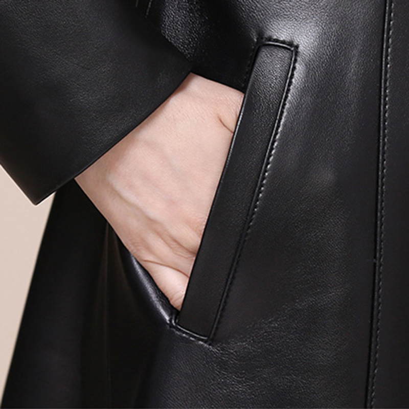 de couro feminino manga comprida botoes plus 05